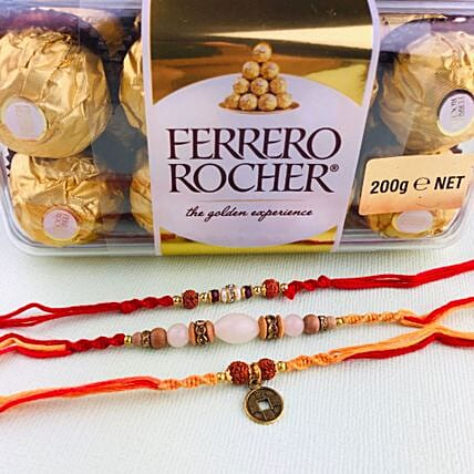Love Always Three Rakhi with Farrero Rochar: