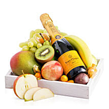 Fruit Tray With Veuve Clicquot