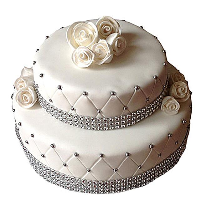 2 Tier Designer Fondant Cake Multi Cakes