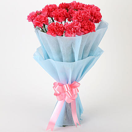 Adorable Pink Carnations Bouquet: Send Flowers for Her