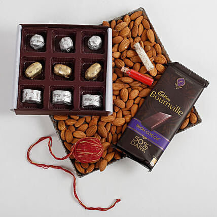 Almonds & FNP Signature Chocolates Hamper: