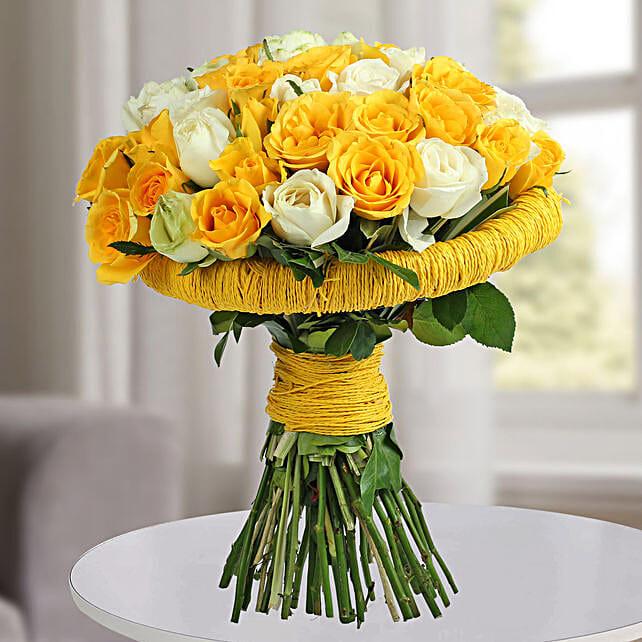 Amazing Yellow Roses Bunch: Designer Bouquet
