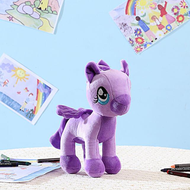 Appealing Purple Pony Soft Toy: Send Soft Toys