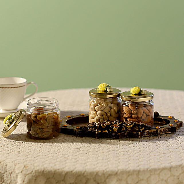 Assorted Healthy Nuts- 3 Jars: Send Gift Hampers