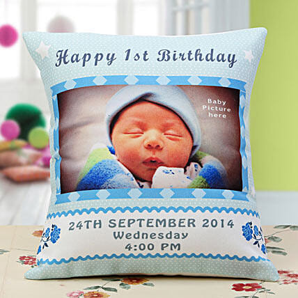 Baby Announcement Personalized Cushion: Coffee Mugs