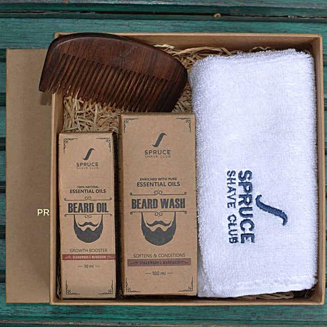 Beard Care Bundle- Cedarwood & Mandarin: Send Gift Hampers