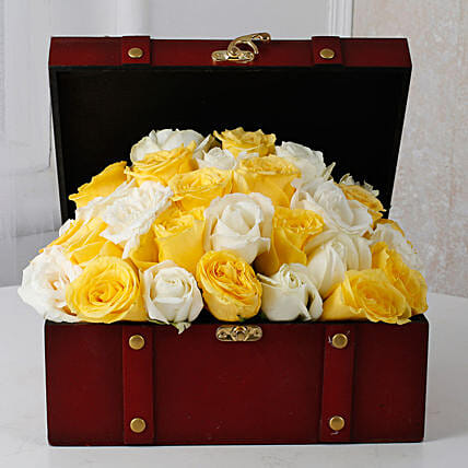 Beautiful Box Of Roses: Mixed Colour Flowers