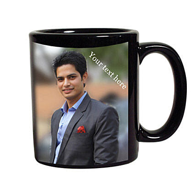 Black Mug Personalized: Mugs for anniversary