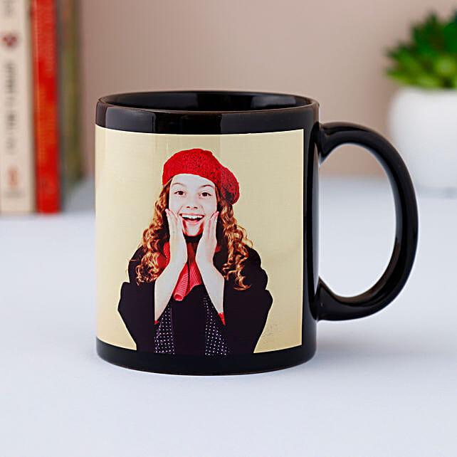 Black Photo Mug Personalized: Valentine Personalised Mugs