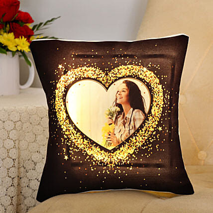 Blingy Heart Personalised LED Cushion Gifts For Girlfriend