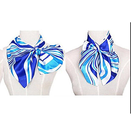 Blue Shaded Imitation Silk Scarf: Scarves And Stoles