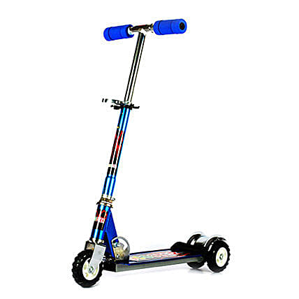 Blue Ultra Durable Big Wheel Scooter: Kids Toys & Games