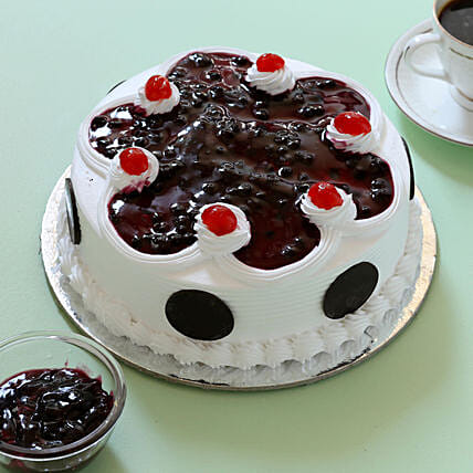 Blueberry Cream Cake: