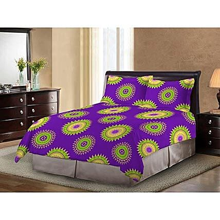 Bombay Dyeing Multicolor Cotton Double Bed Sheet: Home Decor Gifts Ideas