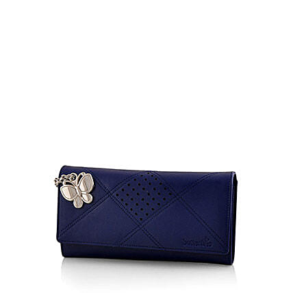Butterflies Exotic Blue Wallet: Handbag Gifts
