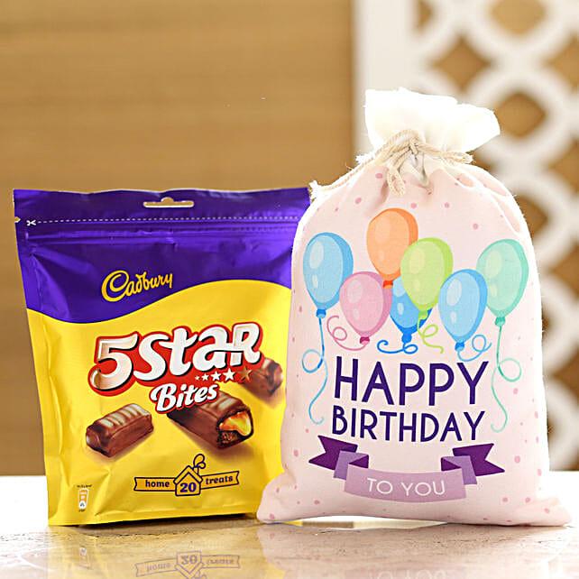 Cadbury 5 Star Pack & Birthday Gunny Bag: Cadbury Chocolates