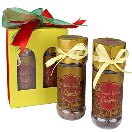 Choco Coated Almonds And Cashews: Dry Fruits Gift Packs