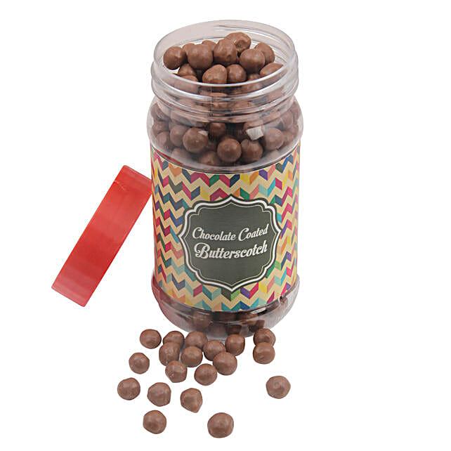 Chocolate Coated Butterscotch Jar: Holi Chocolates