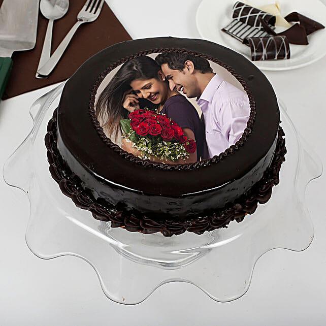 Chocolate Fantasy Photo Cake: Romantic Cakes