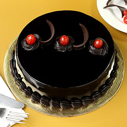Chocolate Truffle Cream Cake Midnight Delivery Gifts