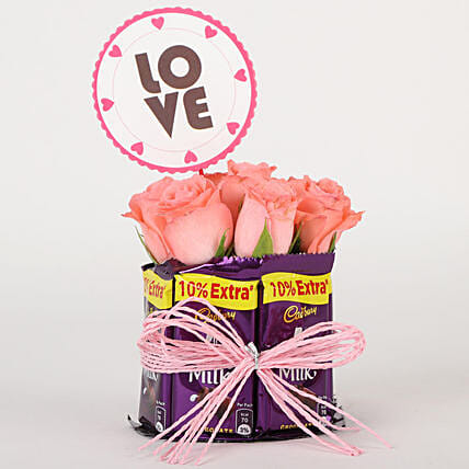 Chocolatey Love Arrangement: Cadbury Chocolates