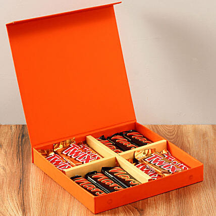 Chocolaty Orange Gift Box: Gifts to India