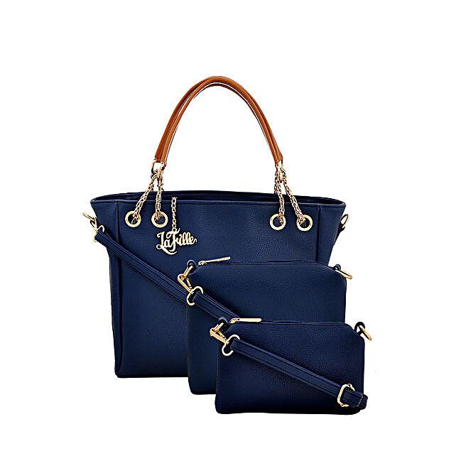 Classy Blue LaFille Handbag Set: Handbag Gifts