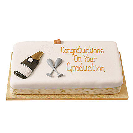 Congratulations Fondant Cake: Send Black Forest Cakes