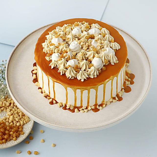Cream Drop Caramel Cake: Buy Eggless Cakes