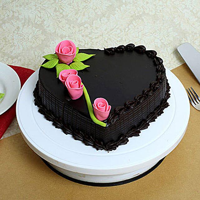 Creamy Heart Truffle Cake: Designer Cakes