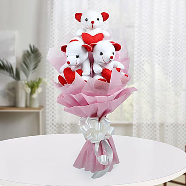 Cute Bouquet Of Teddy Bear: Teddy Day Gifts