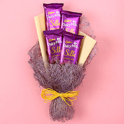 Dairy Milk Silk Chocolate Bouquet: Chocolate Bouquet