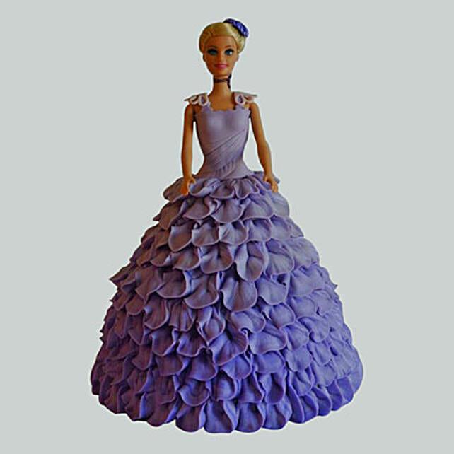 Dazzling Blue Barbie Cake: Cinderella Cakes