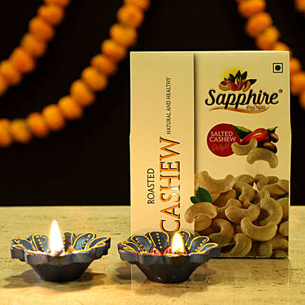 Diya & Cashews Combo: Dry Fruits