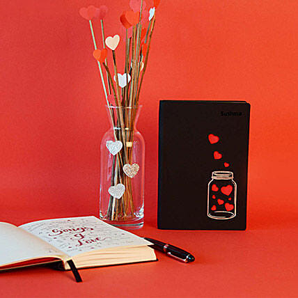 Doodle Love In A Jar Personalized Diary: Send Miss You Gifts