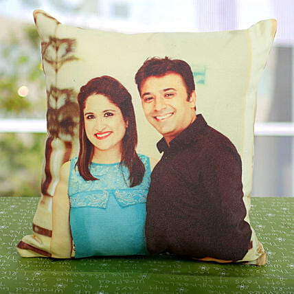 Double Sided Printed Personalized Cushion: Aunt & Uncle's Day Gifts