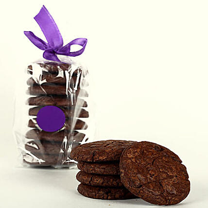 Eggless Fudge Cookie Tin: Send Gourmet Gifts