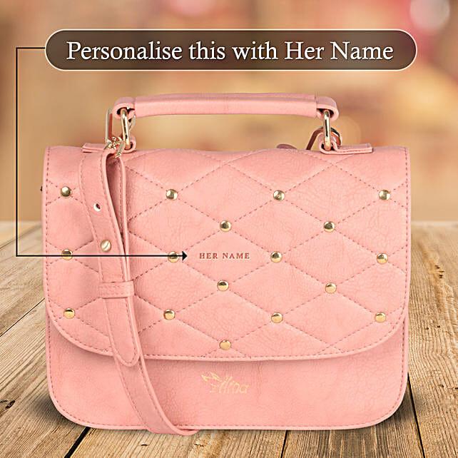 Elegant Pink Sling Bag: Personalised Handbags and Wallets