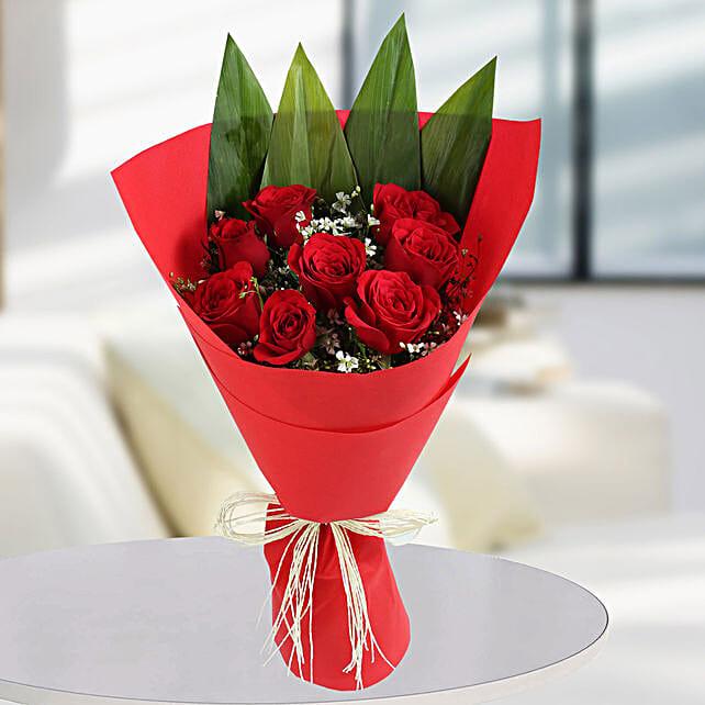 Enchanting Red Rose Bunch: Designer Bouquet