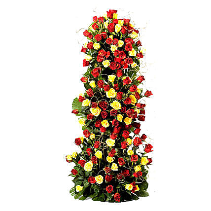 Endless Love- 100 Roses Floral Tower: Gift for Girlfriend Day