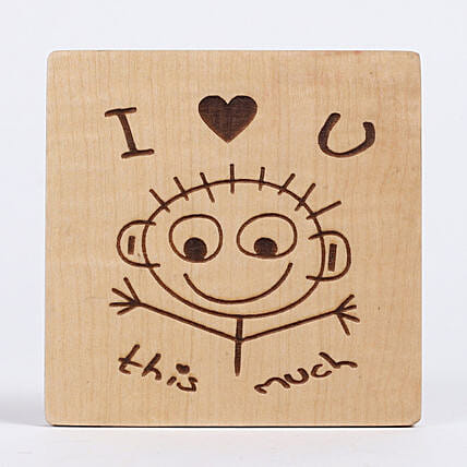 Engraved I Love You Table Top: Gifts to India