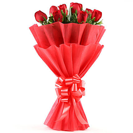 Enigmatic Red Roses Bouquet Gifts For Husband
