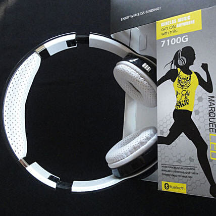 Equalizer Headphones With Flashlight- White: Unusual Gifts