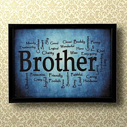 expressive brother frame gift for brother