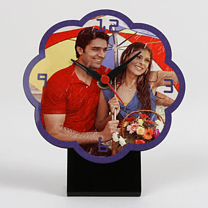Flower Shaped Personalized Table Clock: Clocks