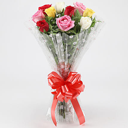 Fragrant Mixed Roses Bouquet: Gifts for Hug Day