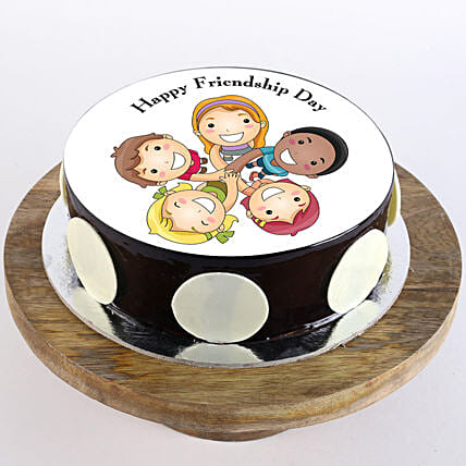 Friendship Day Choco Photo Cake: Gifts For Friendship Day