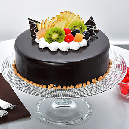 Fruit Chocolate Cake: Congratulations Gifts