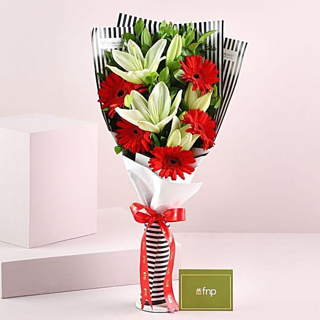 Gerberas Asiatic Lilies Bouquet: