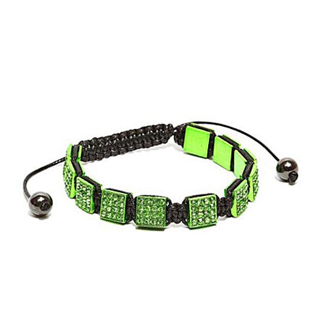 Green Aquamarine Cubic Bracelet: Friendship Day Bands